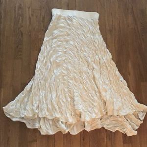 DKNY white flowy skirt